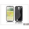 Haffner Samsung i9500 Galaxy S4 szilikon hátlap - fekete - S-Line