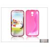 Haffner Samsung i9500 Galaxy S4 szilikon hátlap - pink - S-Line