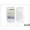 Haffner Samsung S6810 Galaxy Fame szilikon hátlap - S-Line - clear