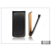 Haffner Slim Flip bőrtok - Samsung S5380 Wave Y - fekete