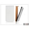 Haffner Slim Flip bőrtok - Sony Xperia Z (C6603) - fehér