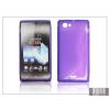 Haffner Sony Xperia J (ST26i) szilikon hátlap - S-Line - lila