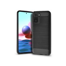 Haffner Xiaomi Redmi Note 10/Note 10S szilikon hátlap - Carbon - fekete tok és táska