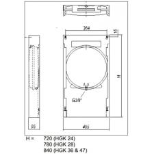 Hajdu HGK-28 felszerelő keret gázkazánhoz 2379960022 hűtés, fűtés szerelvény