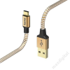 "Hama ADATKÁBEL USB TYPE-C ""REFLECTIVE"" 1,5M, NARANCS"