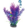 Happet levegőporlasztós lila műnövény akváriumba