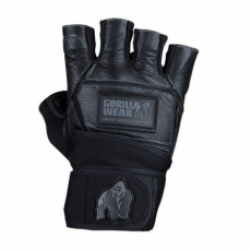 HARDCORE WRIST WRAP GLOVES (BLACK) [M]