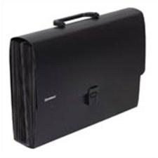 Harmonika táska, PP, 26 zsebes, DONAU, fekete (D8558) irattartó