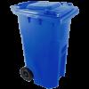 Háztartási szemetes kuka, kék 240 L (11967)
