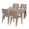 Hecht Anegada beige kerti bútor szett 4+1