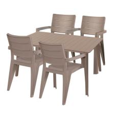 Hecht Anegada beige kerti bútor szett 4+1 kerti bútor