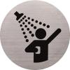 HELIT Információs tábla, rozsdamentes acél, HELIT, zuhanyozó (INH6271300)