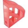 """HELIT Iratpapucs, műanyag, 75 mm, HELIT """"Economy"""", áttetsző piros"""