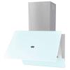 HelloShop Fehér edzett üveg páraelszívó 600 mm - Fehér parcel - parcel  munkanap