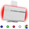 HelloShop Rozsdamentes acél és edzett üveg RGB páraelszívó LED-del 60 cm - Fehér parcel - parcel  munkanap