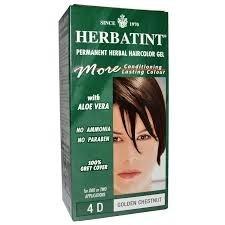 Herbatint HERBATINT 4D ARANY GESZTENYE HAJFESTÉK, 135 ml hajfesték, színező