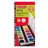 Herlitz Hungária Kft. Herlitz Vízfesték/12 szín + fedőfehér, feliratozható, fedele festékkeverő palettaként funkcionál