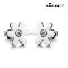Hûggot Spring Hûggot 316 L orvosi fém fülbevalók cirkóniakövekkel