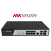 Hikvision DS-3E2310P menedzselhető PoE switch, 8x 10/100 PoE(125W) + 2x gigabit combo port