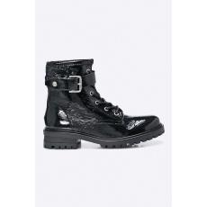 HILFIGER DENIM - Magasszárú cipő - fekete