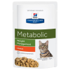 Hill's Prescription Diet 24x85g Hill´s Prescription Diet Feline Metabolic csirke nedves macskatáp