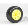 Himoto Ragasztott gumiabroncs, 1:10 TRUGGY, sárga felni (2 db)