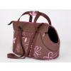 Hobbydog Kutya hordozó táska - barna, virágmintás - 30x58cm