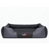 Hobbydog Premium kutyaágy - fekete és szürke - 85x65cm