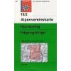 Hochkönig, Hagengebirge turistatérkép - Alpenvereinskarte 10/2
