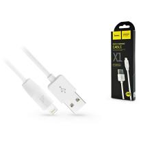 Hoco Apple iPhone Lightning USB töltő- és adatkábel 2 m-es vezetékkel - HOCO X1 Lightning Cable - 2.1A - fehér kábel és adapter