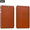 Hoco - Crystal series bőr Samsung Tab A 8.0 tablet tok - barna