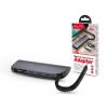 Hoco HOCO USB Type-C elosztó HUB - 3xUSB 3.0 + SD/SDHC/SDXC/TF kártya - HOCO HB17 Type-C to 3 USB Ports/Card Converter HUB - szürke