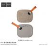 Hoco hordozható Bluetooth hangszóró textil felülettel és fogantyúval Apple készülékekhez - világos barna