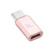Hoco - Micro és USB-C átalakító - rozéarany