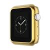 Hoco - okos óra ultravékony TPU fémes szélű védőtok Apple Watch Series 2 38 mm - arany