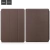 Hoco - Sugar series anilin bőr iPad Pro 12.9 tablet tok - barna