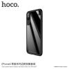 Hoco szett szilikonos keret és edzett üveg a hátoldalra Apple iPhone X - fekete