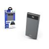 Hoco Univerzális hordozható, asztali akkumulátor töltő - HOCO J49 Power Bank - 2xUSB+Type-C+microUSB+PD+QC3.0 - 10.000 mAh - grey