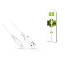 Hoco USB - micro USB adat- és töltőkábel 2 m-es vezetékkel - HOCO X20 Micro USB Cable - 2.4A - white mobiltelefon kellék