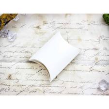 Hófehér hajtogatható papír ékszerdoboz ékszerdoboz
