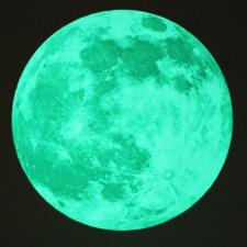 Hold, éjjel világító falmatrica tapéta, díszléc és más dekoráció