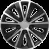"""HOMASITA 08119231 Versaco Rapide dísztárcsa szett, 14""""""""-os méretben, ezüst-fekete, 4 db"""