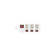 Home by Somogyi NVK 03K-3/WH/1,5 hálózati elosztó, kapcsolós kábel és adapter