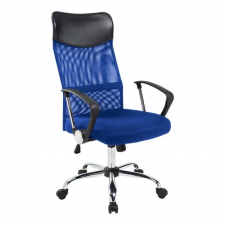 Hoppline Ergonomikus irodai szék magasított háttámlával, kék