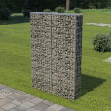 Horganyzott acél gabion fal fedéllel 100 x 20 x 150 cm kerti dekoráció
