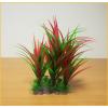 Hosszú piros és zöld levelű akváriumi palás műnövény (20 x 38 cm)