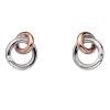 Hot Diamonds Ezüst fülbevaló Hot Diamonds Eternity Interlocking Rose Gold Stud DE309