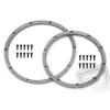 HPI Gumi rögzítő gyűrű, két felnihez, ezüst 2db