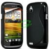 HTC T328e Desire X fekete szilikon tok