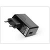 Huawei gyári USB hálózati töltő adapter - 5V/1A - HW-050100E1W black (ECO csomagolás)